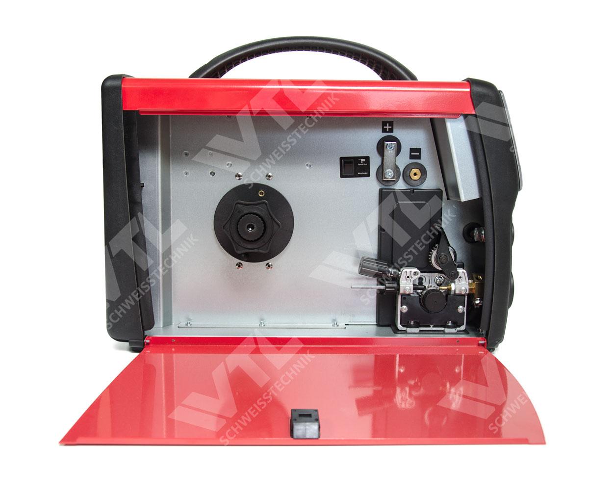 POWER MIG 200 LCD MIG/MAG/MMA/WIG Synergic Schweißinverter + MB 15 4 ...
