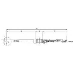 Brennerhals 24W FLEX extra lang 118 mm