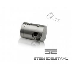 TRAVERSENHALTER / QUERSTABHALTER Edelstahl 42,4 x 12mm Bohrung FLACH 22-0012-30S